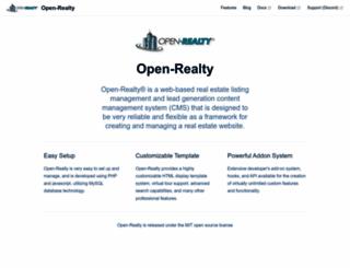 open-realty.org screenshot