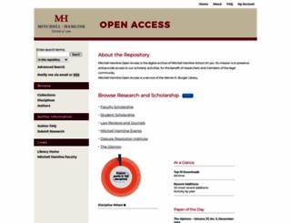 open.mitchellhamline.edu screenshot