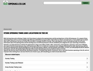 open4u.co.uk screenshot