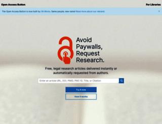 openaccessbutton.org screenshot