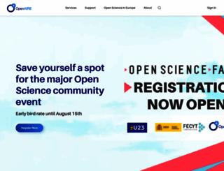 openaire.eu screenshot