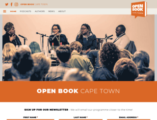 openbookfestival.co.za screenshot