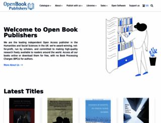 openbookpublishers.com screenshot