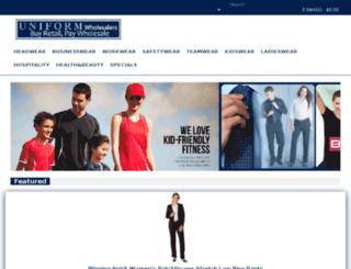 opencart.uniformwholesalers.com.au screenshot