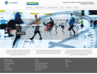 openclovis.com screenshot