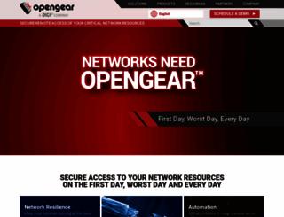 opengear.com screenshot