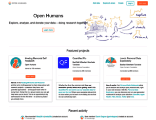 openhumans.org screenshot
