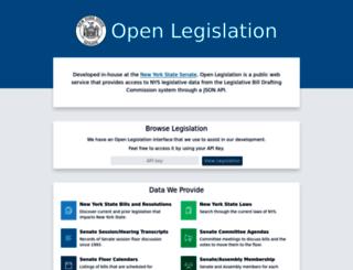 openleg-dev.nysenate.gov screenshot