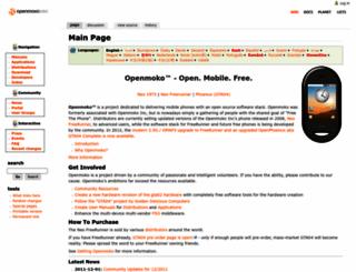 openmoko.org screenshot