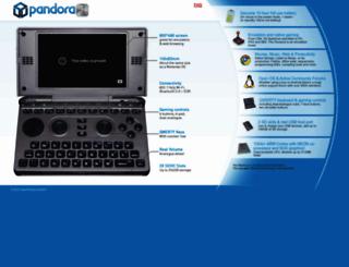 openpandora.org screenshot