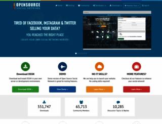 opensource-socialnetwork.org screenshot