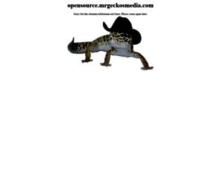 opensource.mrgeckosmedia.com screenshot