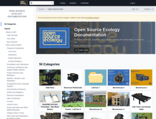 opensourceecology.dozuki.com screenshot