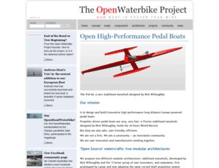 openwaterbike.com screenshot