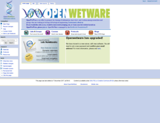 openwetware.org screenshot