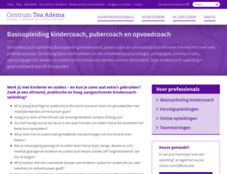 opleidingtotkindercoach.nl screenshot