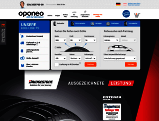 oponeo.de screenshot