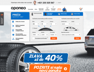 oponeo.sk screenshot