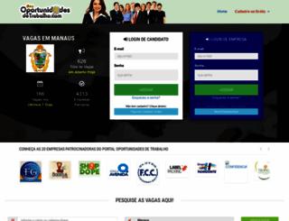 oportunidadesdetrabalho.com screenshot