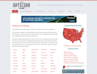 opticiantraining.org screenshot