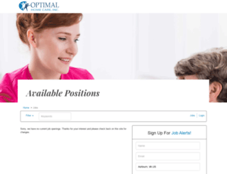 optimalhomecare.applicantpro.com screenshot