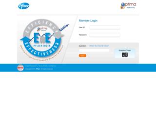 optimarepl.pfizerindia.com screenshot