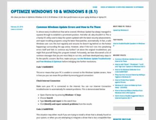 optimizewindows8.wordpress.com screenshot