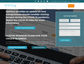 optimusbusinessplans.com screenshot
