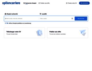 optioncarriere.lu screenshot