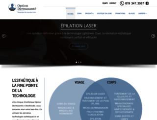 optiondermasante.com screenshot