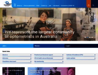 optometry.org.au screenshot