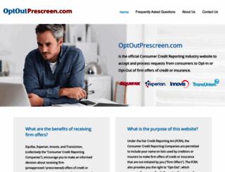 optoutprescreen.com screenshot