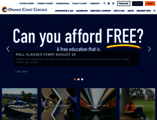 orangecoastcollege.edu screenshot