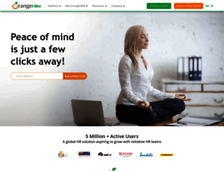 orangehrm.com screenshot