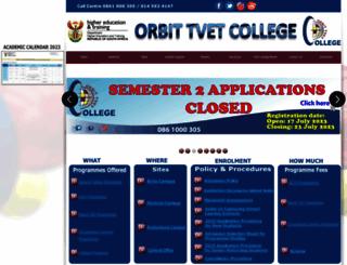 orbitcollege.co.za screenshot