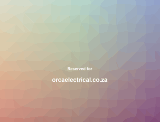 orcaelectrical.co.za screenshot