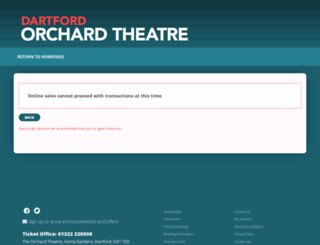 orchardtheatre.co.uk screenshot