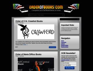 orderofbooks.com screenshot