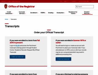 ordertranscript.wisc.edu screenshot