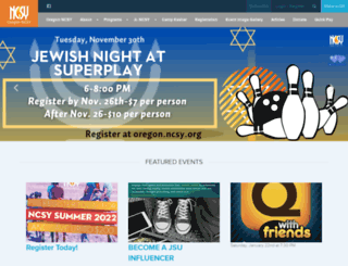 oregon.ncsy.org screenshot
