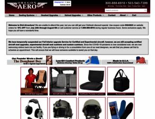 oregonaero.com screenshot