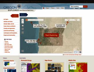 oregonexplorer.info screenshot