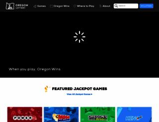 oregonlottery.org screenshot