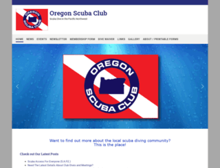 oregonscuba.com screenshot