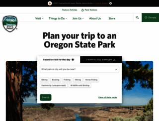 oregonstateparks.org screenshot