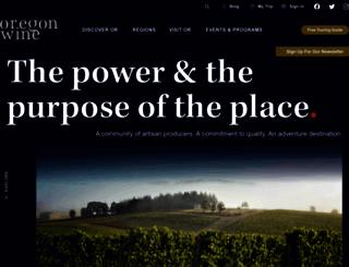 oregonwine.org screenshot