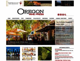 oregonwinepress.com screenshot