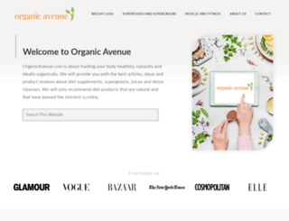 organicavenue.com screenshot