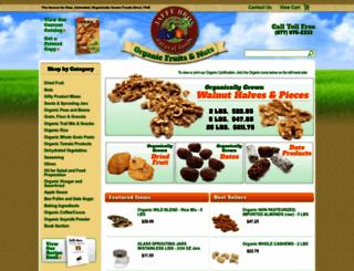 organicfruitsandnuts.com screenshot