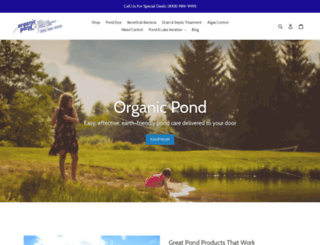 organicpond.com screenshot
